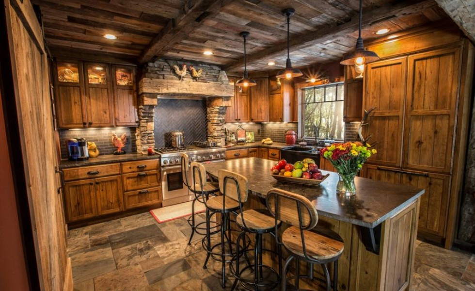 15 rustic style kitchen design ideas houz buzz Rustic kitchen designs