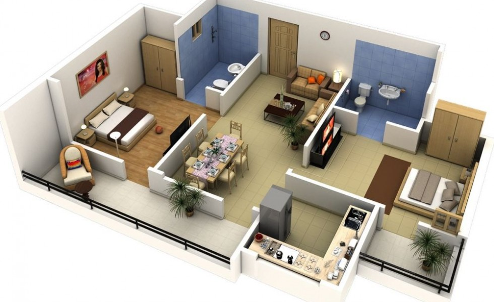 How to convert an apartment turn a 1 bedroom into a 2 for A bedroom has a length of x 3