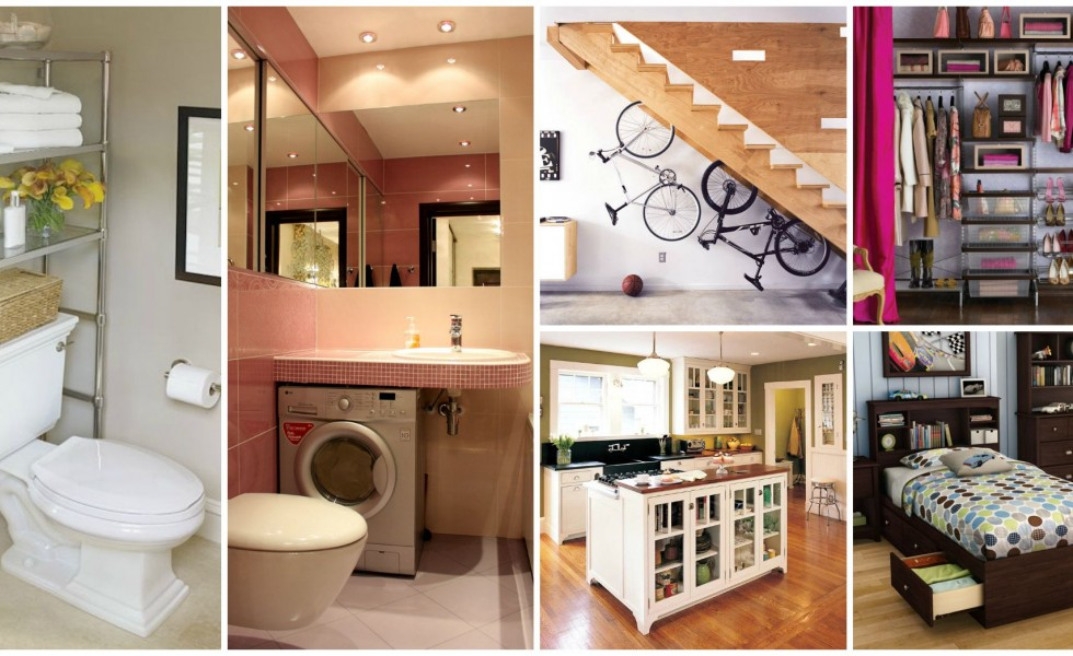 16 small home space saving tips houz buzz for Home space saving ideas