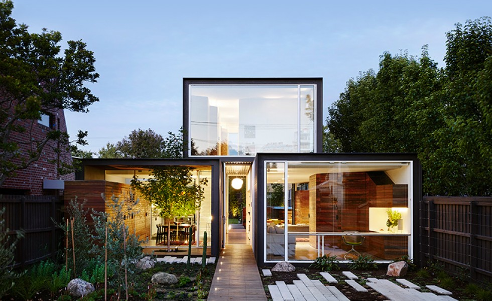 The cubic home in Australia