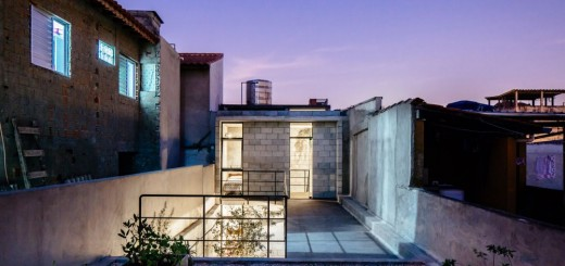 The narrow house of Sao Paolo in Brazil