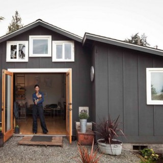 The tiny house in the garage in Seattle