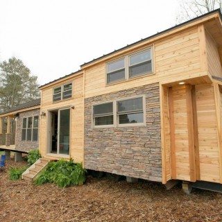 The modern tiny house is luxurious