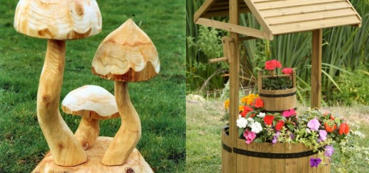 Wooden garden ornaments for all