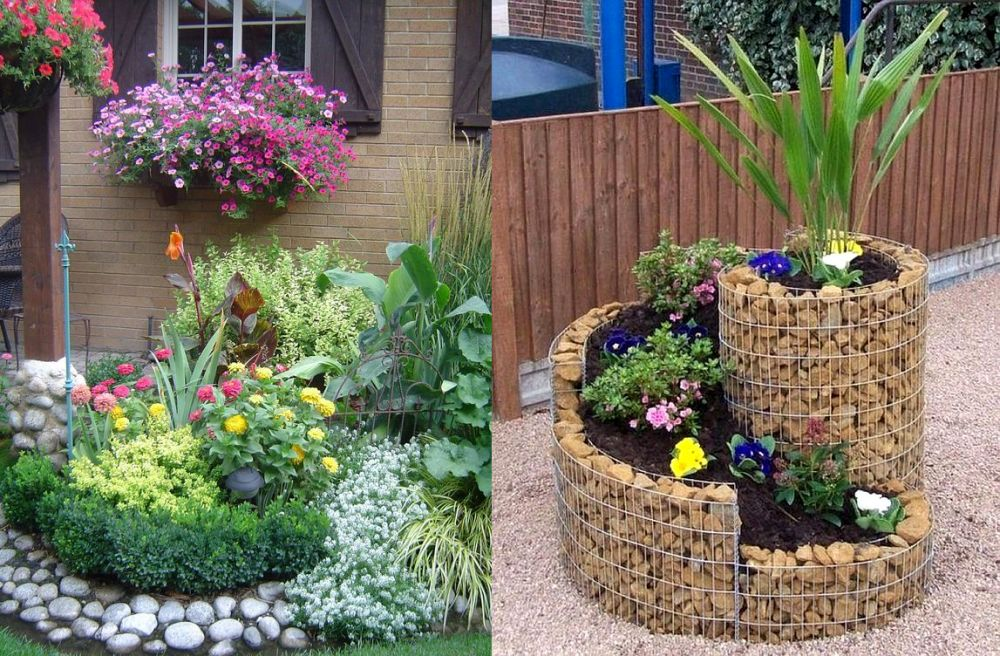 16 stone and flower garden design ideas houz buzz for Cheap beautiful garden ideas
