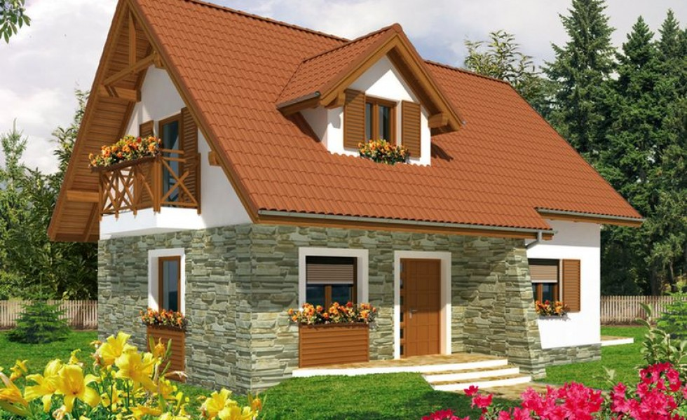 attic houses under 100 square meters - Small House With Attic
