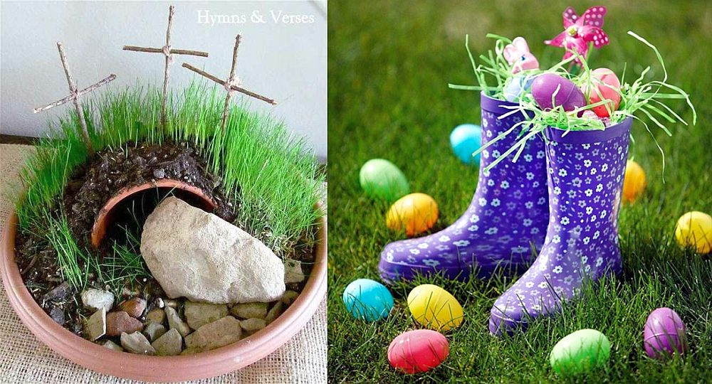 Outdoor easter decorations 15 colorful ideas houz buzz for Outdoor easter decorations for the home
