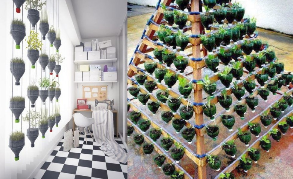 13 Plastic Bottle Vertical Garden Ideas Houz Buzz