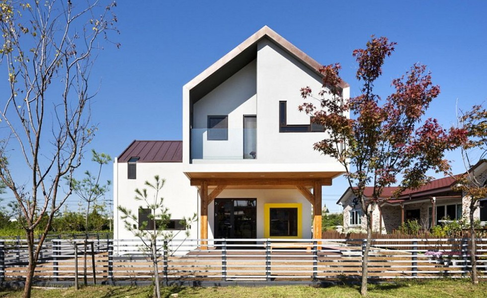 T shaped house plans following the sun houz buzz for Modern house korea