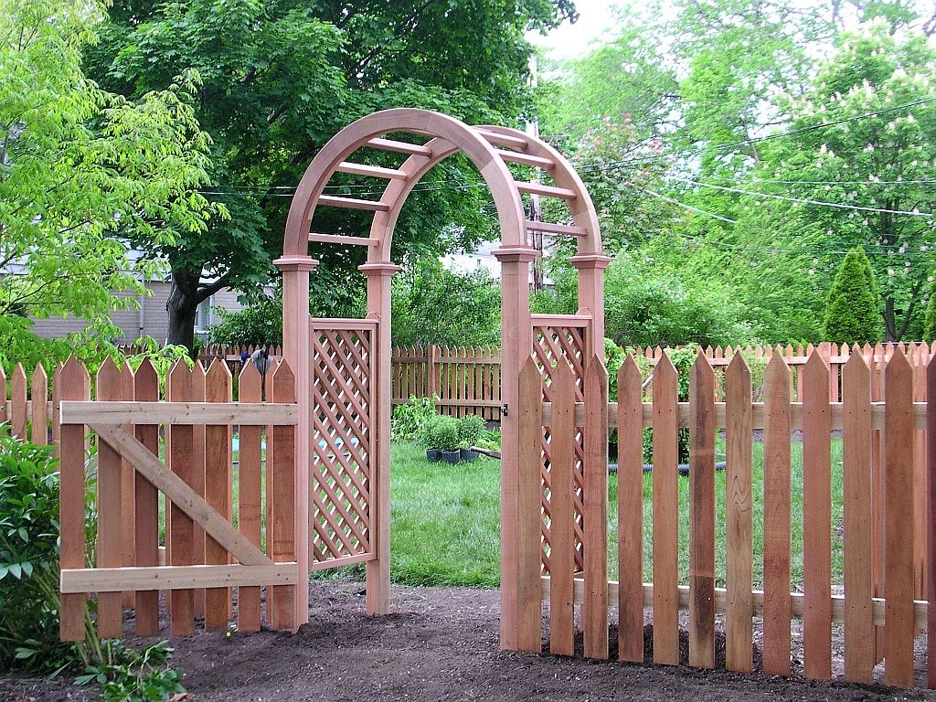 Garden wood arches 15 superb ideas houz buzz - Garden wood arches ...