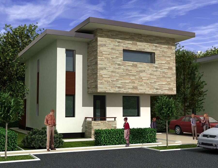 Modern Two Story Houses Fine Architecture And Generous