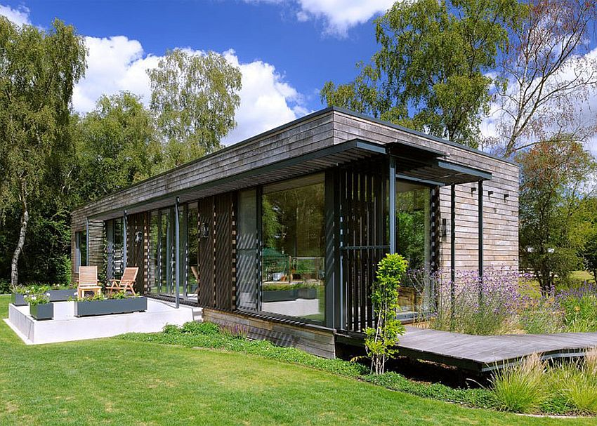 The mobile home in the meadow modern living in nature houz buzz - The mobile home in the meadow ...