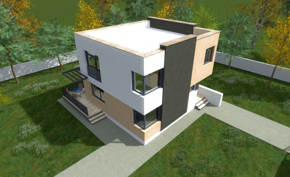 Cheap flat roof house plans 3 economical choices houz buzz Modern flat roof house designs