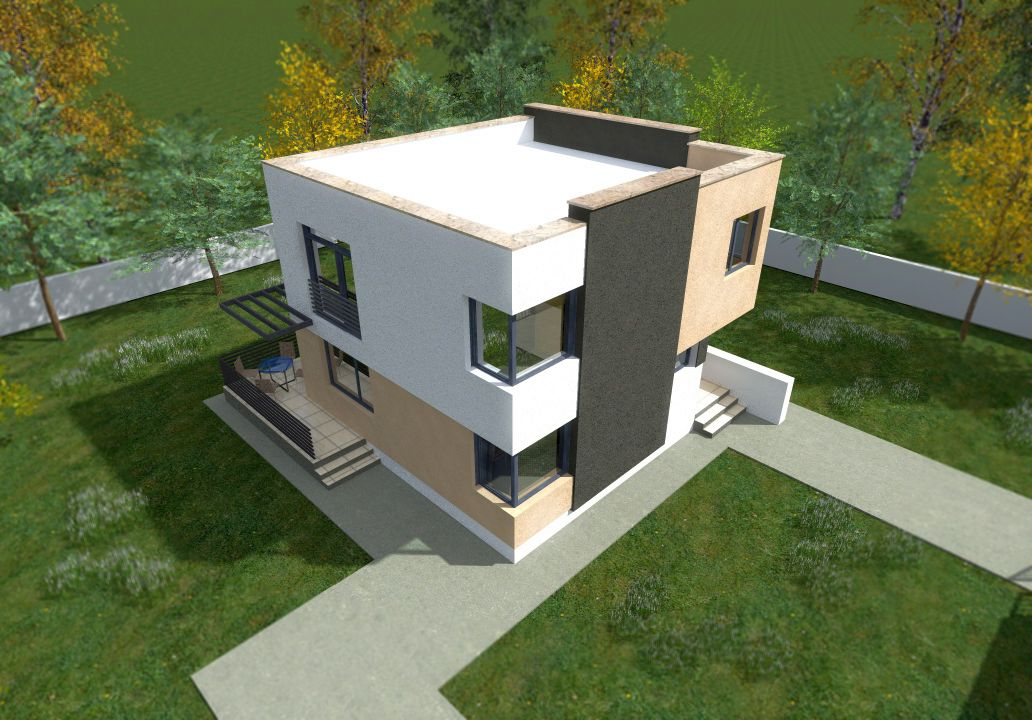 Cheap flat roof house plans 3 economical choices houz buzz for Cheapest 2 story house to build