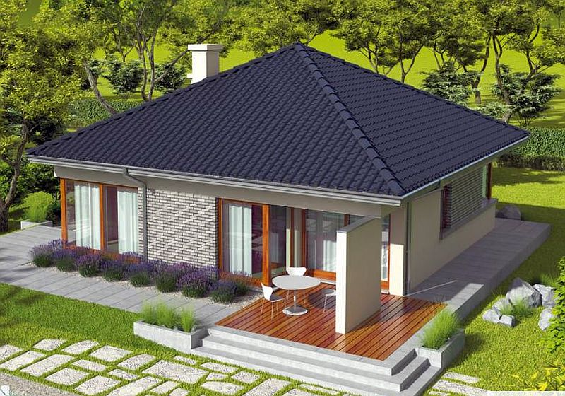 3 small houses under 100 square meters houz buzz for Small house design 100 square meter