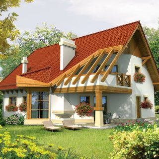 Houz buzz interior design gardening house ideas projects - Simple mansard roof houses beautiful practical without taking much space ...