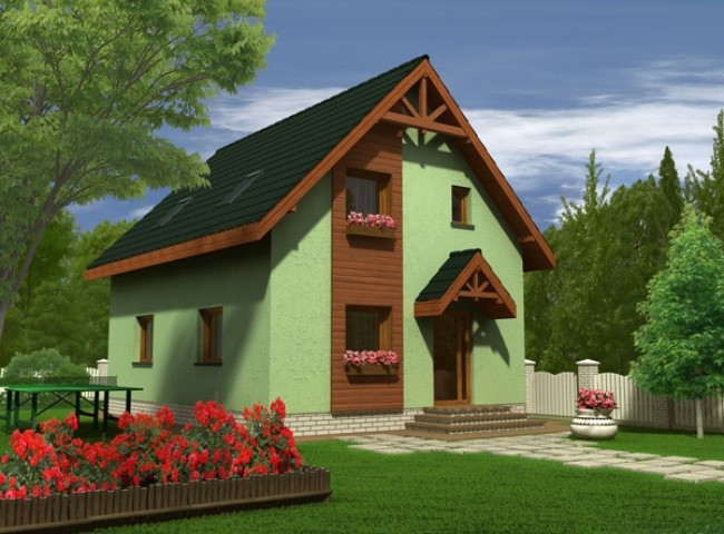 simple mansard roof houses 2