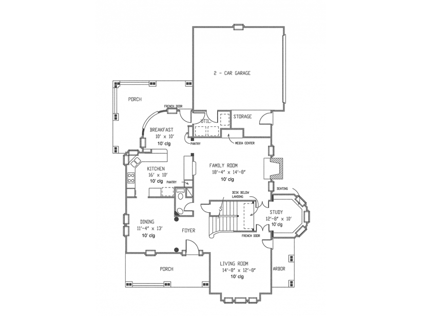 house plans with porches 2 1st floor