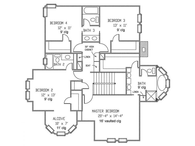 house plans with porches 2 2nd floor