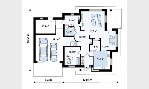 Romanian house plans with attic