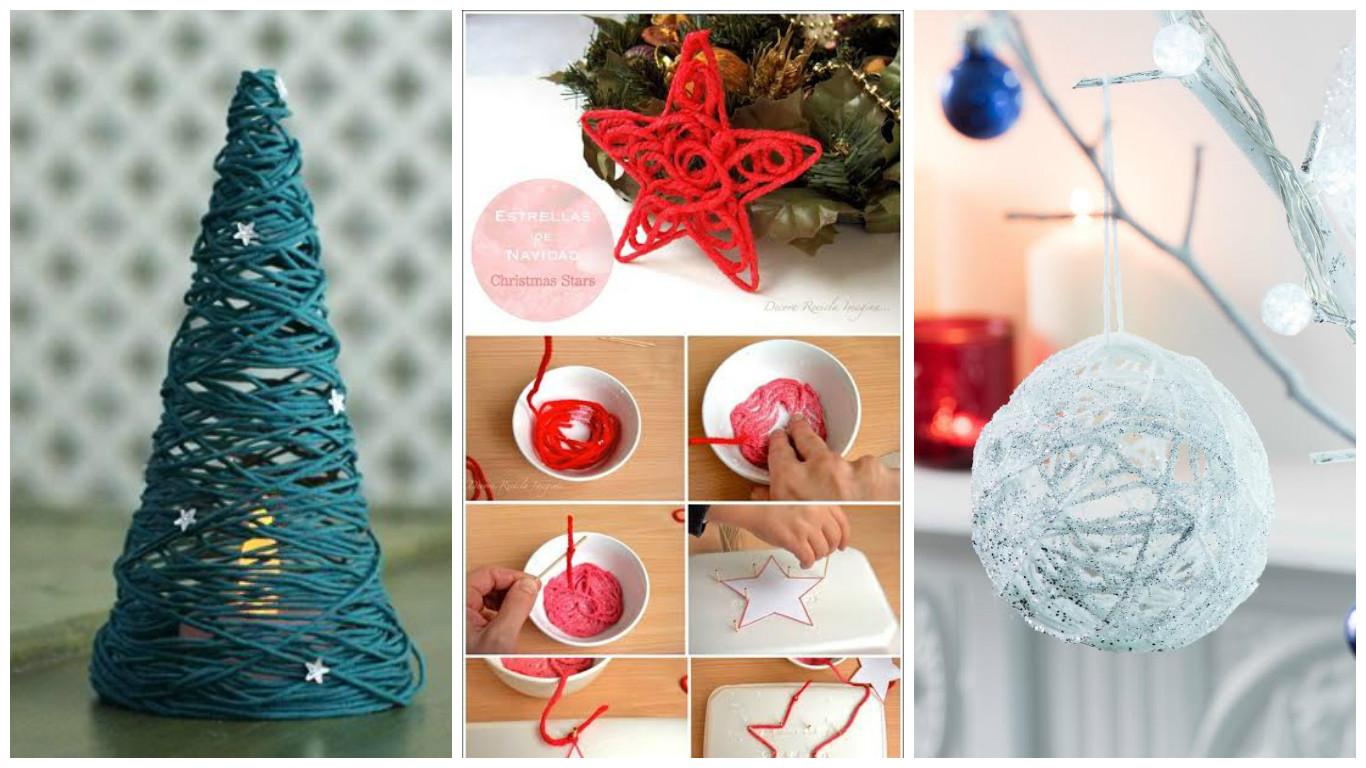 string ornaments for Christmas