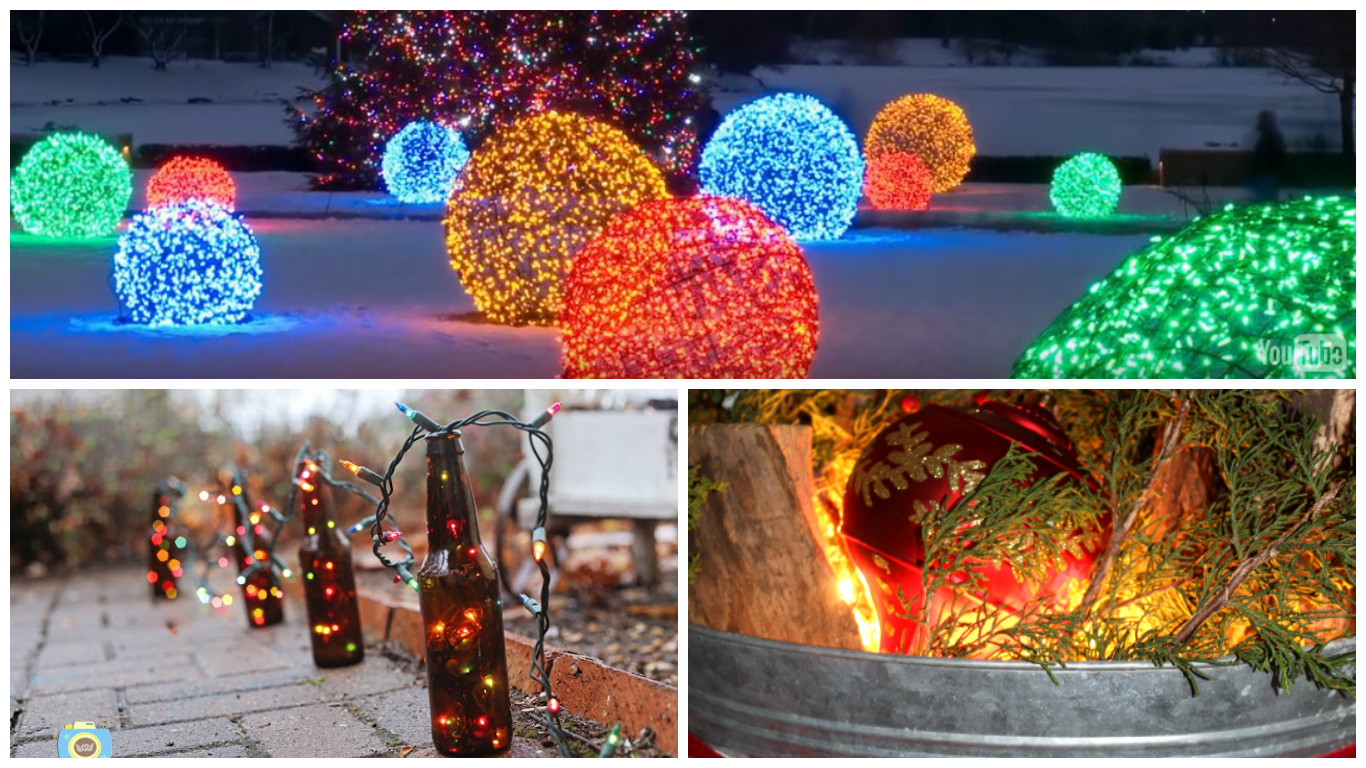 Outdoor christmas decorating turn your garden into a for Outdoor christmas decorations 2016