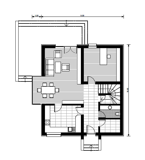 small house plans with three bedrooms 1 1st floor plan