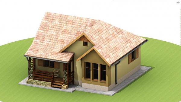 wood and OSB small house plans