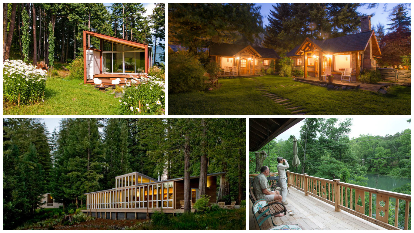 Houses in the woods perfectly nature integrated designs - Houses woods nature integrated ...
