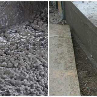 how to put cement into foundations and ceilings
