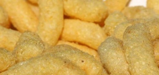 home-made corn puffs