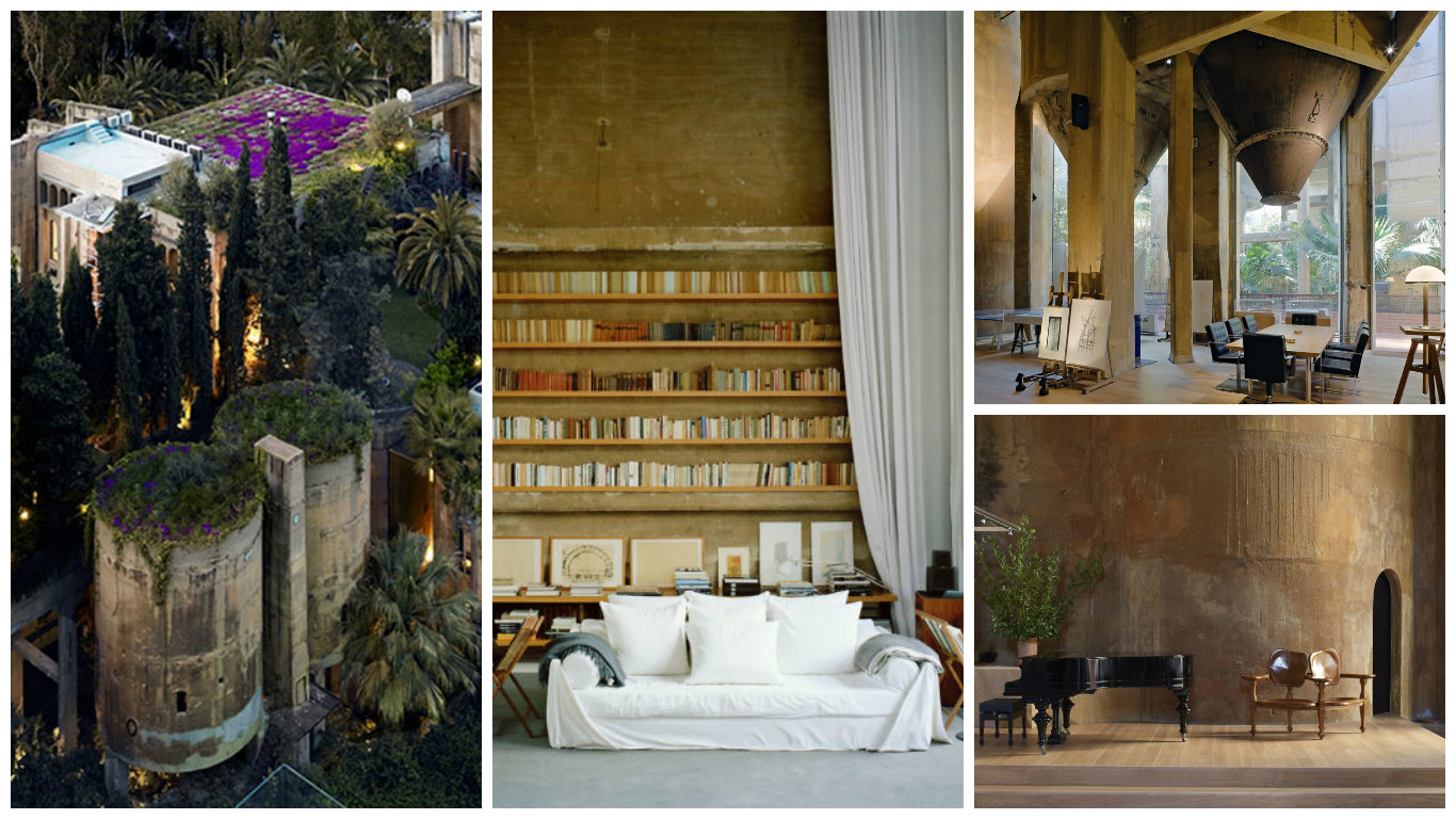 Old cement factory turned into a home splendid residence of an architect outside barcelona - Old cement factory turned home ...