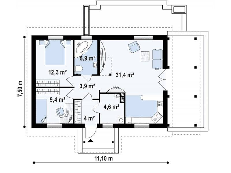 Low Cost House Plans. Up to Three Bedrooms for the Price of a Studio