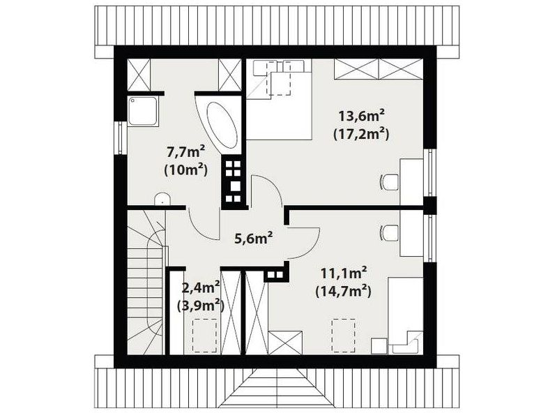 simple house plans with attic
