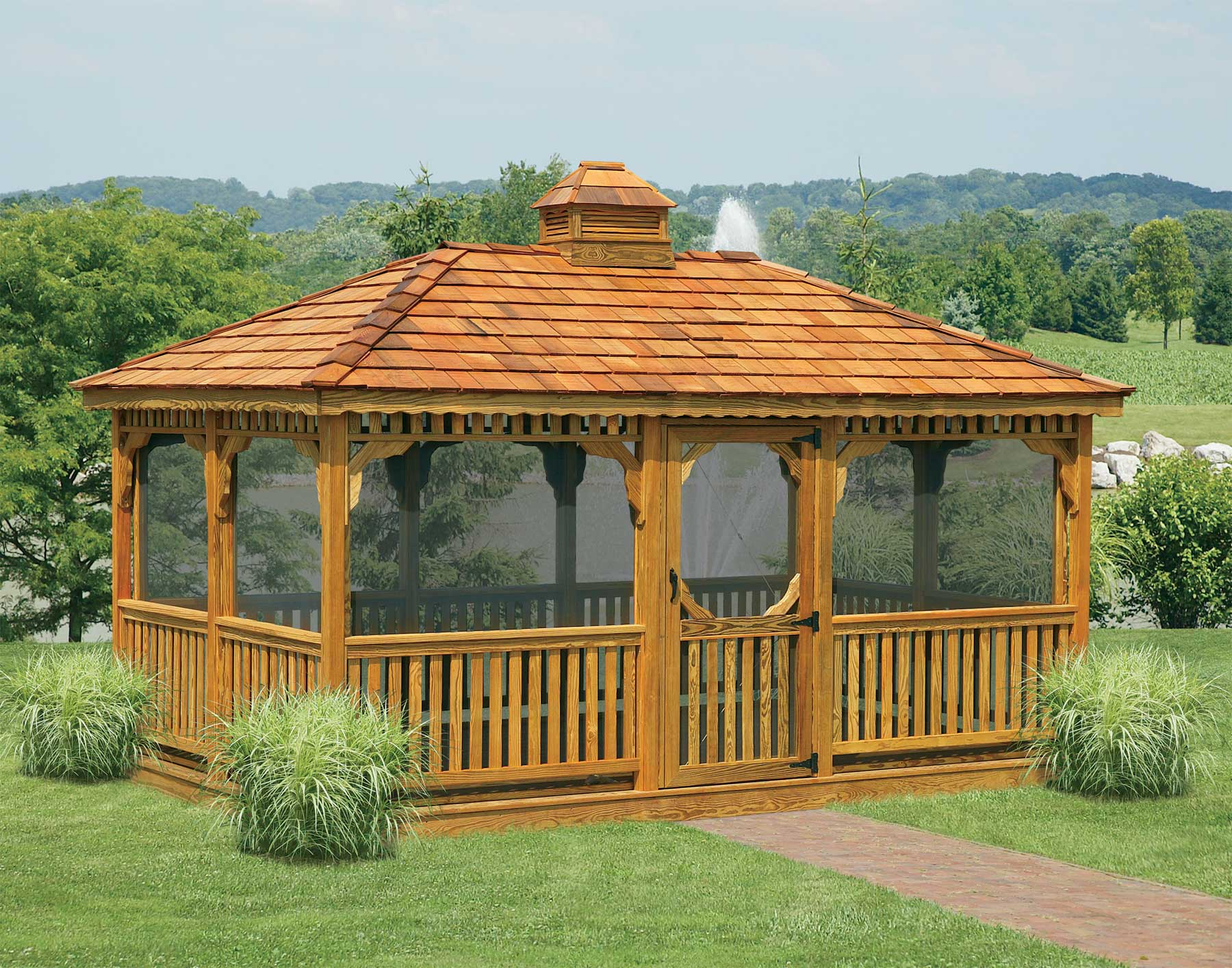 How to build a rectangular gazebo step by step guide and models - Build rectangular gazebo guide models ...