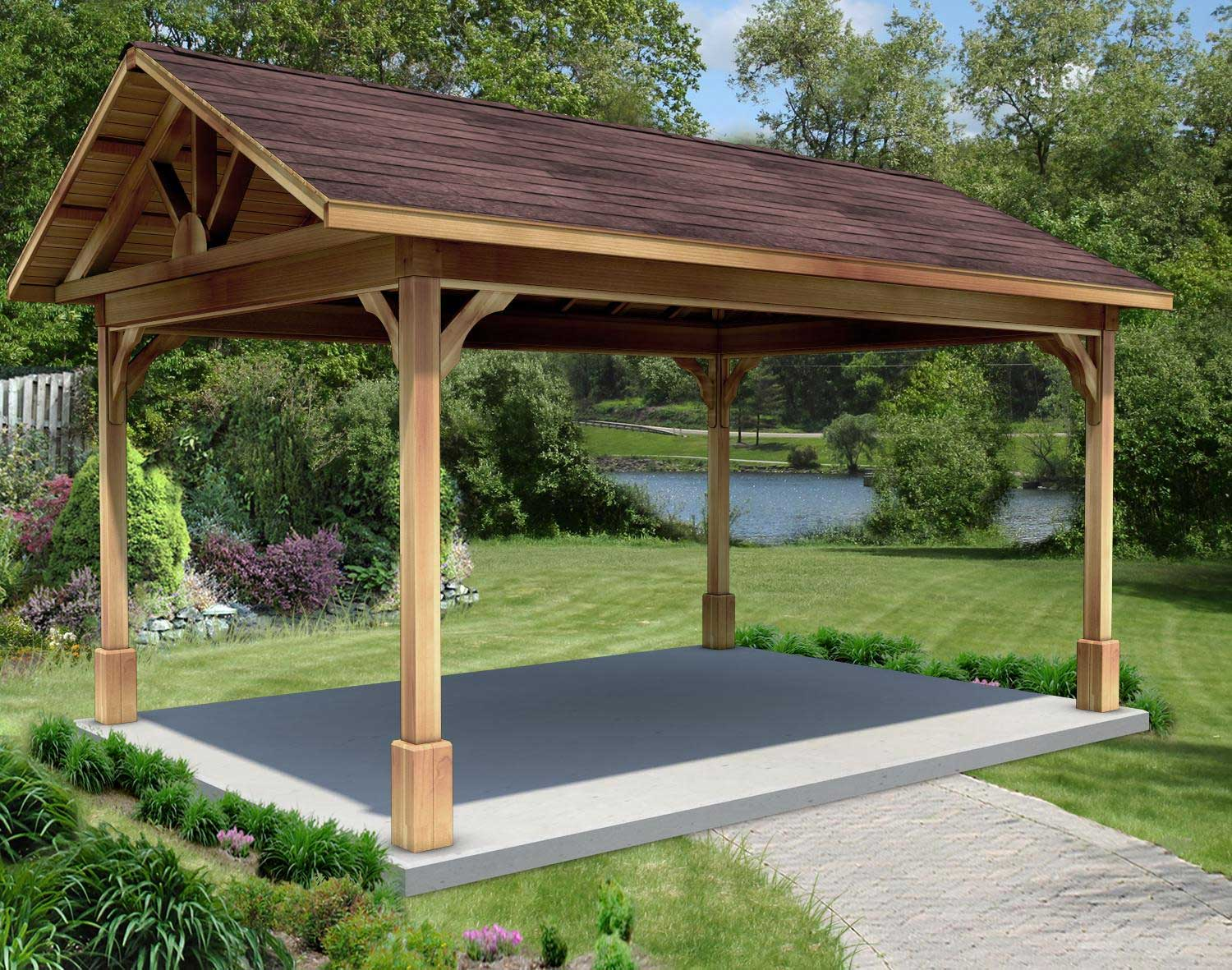 How to build a rectangular gazebo step by step guide and - How to make a gazebo cover ...