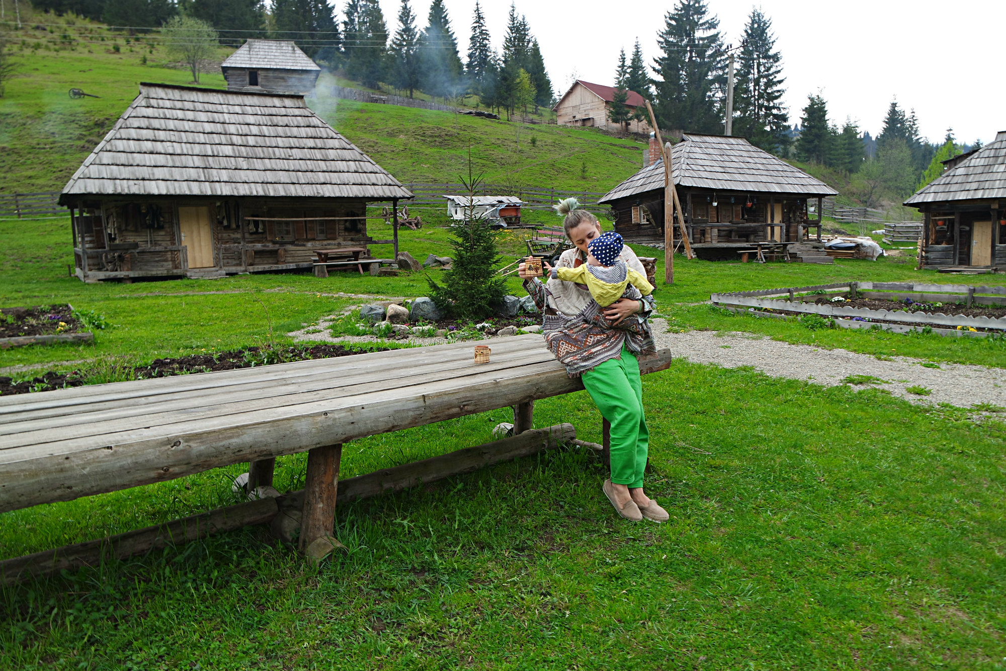 Houses In Bucovina. Traditional Architecture In Charming Homes