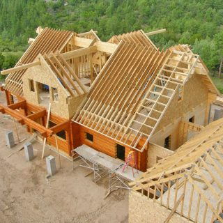 how to build a wood gable roof