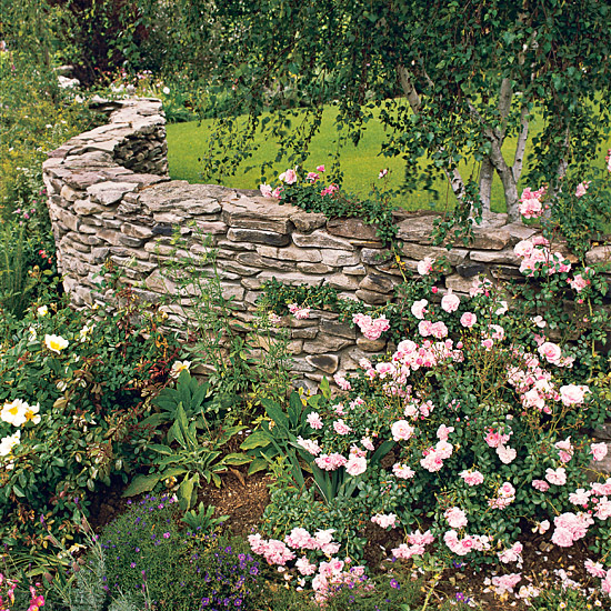Stone fences for the garden beautiful designs for unique homes and gardens - Stone fences garden designs ...