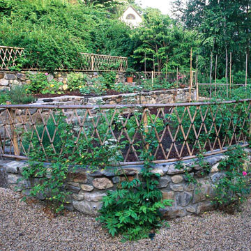 stone fences for the garden