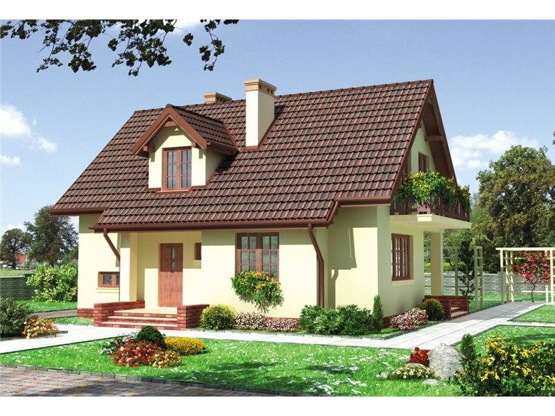 Houses with attic and enclosed kitchen pretty and practical - Houses attic enclosed kitchen ...