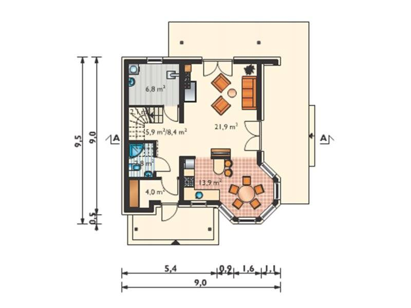 houses with attic for families with 2 children