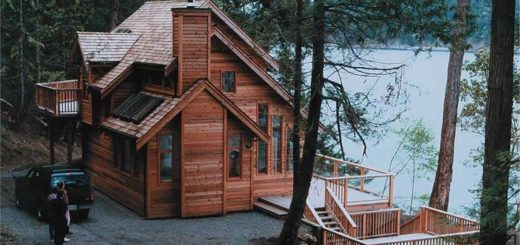 wooden vacation houses