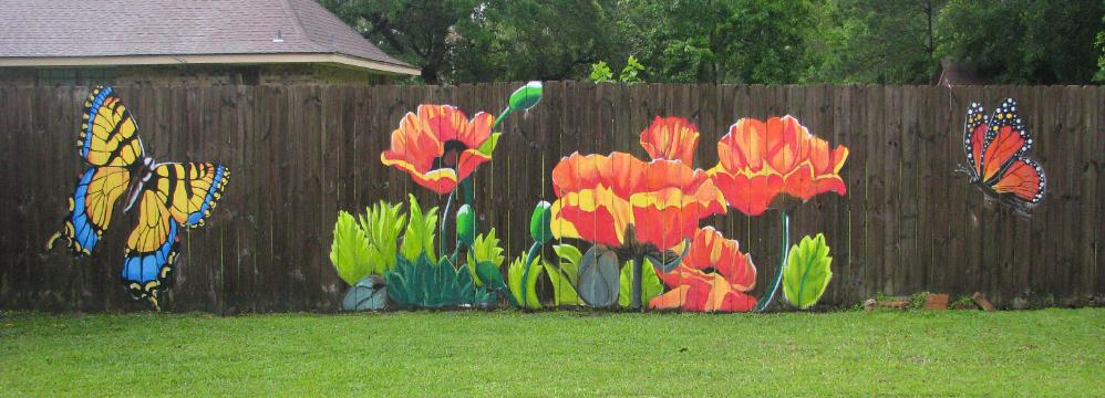 Advice And Ideas For Painting Your Fence Wrap Your Garden
