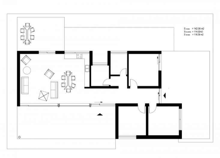 modern one-story house plans