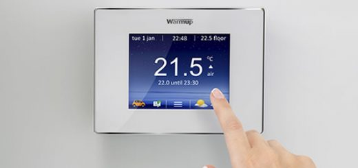 central heating with a thermostat