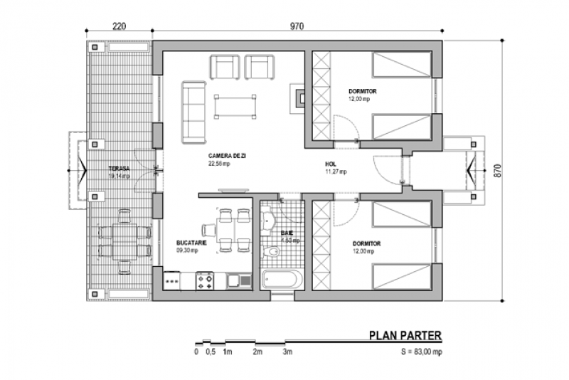 house plans under 1,000 sq. ft. with 2 bedrooms