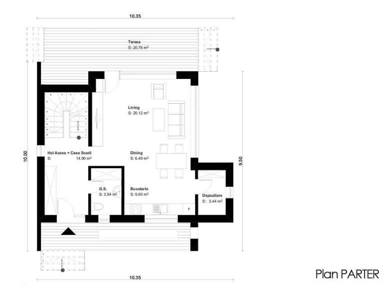 House plans under 150 square meters houz buzz for Modern house design for 150 sqm