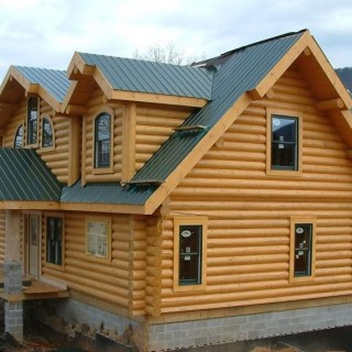 Log homes plans and designs in nature