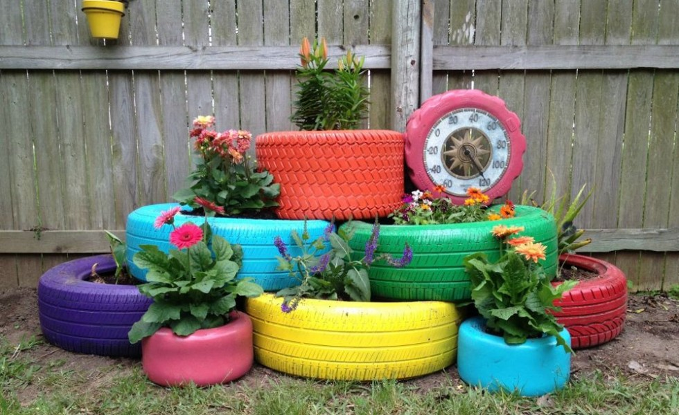 DIY projects using old tires for the home
